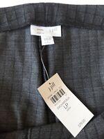 NEW Sz LP J JILL Ponte Knit Slim Leg PANTS Gray & Black Windowpane PULL-ON Style