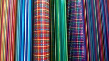 Self adhesive craft paper polka stripes 6sheets A4 cut peel stick, diy, vintage