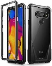 """Poetic For LG V40 ThinQ Case [Guardian] """"Scratch Resistant Back"""" Cover Black"""