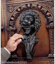 18th Century Italian Cast Iron Door Knocker Antique Lion Head Florentine Style