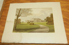 1866 Antique COLOR Print/CASTLE COOLE, COUNTY FERMANAGH, HOME OF EARL OF BELMORE