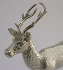 GOOD SIZE QUALITY ENGLISH SILVER PLATED STAG DEER FIGURE c1950s CHRISTMASSY