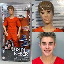 CUSTOM Justin Bieber Doll wearing Orange Prison Uniform Jail Fashion Mugshot