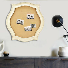 Distressed Whitewash Scallop Framed Pinboard Wall Mounted Memo Message Board Us