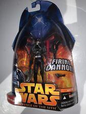 Star Wars Revenge of the Sith Clone Pilot Black Uniform  #34 Action Figure Rare