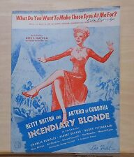 What Do You Want to Make Those Eyes At Me For? - 1944 sheet music