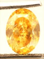 LOOSE NATURAL DIAMOND TCW0.74 Fancy Intense Orangy Yellow Oval GIA SOLITAIRE