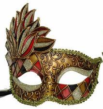 Venetian Mask Cascade PinkHarlequin Halloween Mardi Gras Costume Party