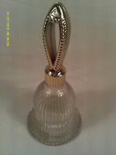 "[M12] 5"" Glass Bell - Avon Charisma Cologne 1 Oz, (Empty)"