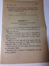 Regio Decreto 23/7/1889 Campofilone sez. autonoma  col. elet. di Ascoli P. -555