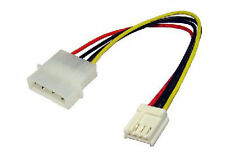 "5.25"" 4 Pin Molex to 3.5"" Floppy Drive Plug FDD Internal Power Cable Adaptor"