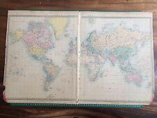 1865 buone dimensioni SDUK Walker Mappa del mondo in proiezione di Mercatore'S