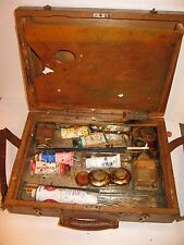 HOLBEIN VINTAGE PAINTERS KIT BOX & PALETTE with ARTISTS SUPPLIES OIL PAINTING