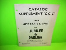 Williams Jubilee Darling Pinball Machine Catalog Supplement New Parts & Units