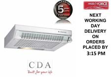CDA CST61WH 60cm Slimline White Visor Cooker Hood Extractor + 5/2 Warranty (New)