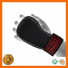 WEIGHT LIFTING GRIPS STRAPS GLOVES CROSSFIT PALM PROTECTORS HAND GYM PULL UP