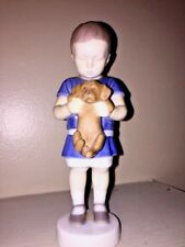 "Vintage Royal Copenhagen B&G Child & Puppy Dachshund Porcelain Denmark Made 7"" T"