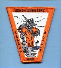 SAR SEARCH & RESCUE SWIMMER DEATH CHEATERS US NAVY USMC Squadron Crew Patch
