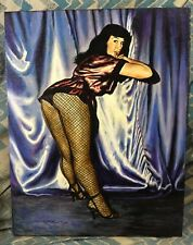 MARCUS BOAS~BETTIE PAGE ON STAGE~NEW OIL PAINTING!