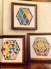 (J) Spanish Alhambra Palace Tiles Cross Stitch Chart