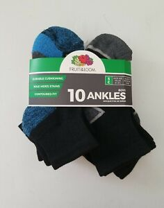 Fruit Of The Loom boys 10 Ankles Size S Socks Shoe size 4.5-8.5 New