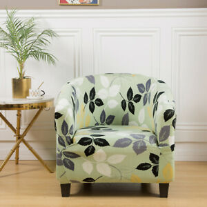 Tub Chair Cover Stretch Armchair Single Sofa Cover Protector for Bar Living Room