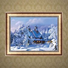 Snow 5D Diamond Embroidery DIY Craft Painting Cross Stitch Mosaic Home Decor