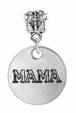 Mama Mother Word Mom Medallion Daughter Dangle Charm for European Bead Bracelet