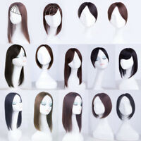 Women Natural 100% Real Human Hair Replacement Top Topper Toupee Hair Piece Wigs