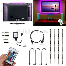 4x 50CM USB RGB 5050 LED String Fairy Strip Light Lamp Waterproof for TV Screen