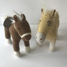 Lot Of Two Ponies Tan Spirit Dreamworks Brown Pottery Barn Kids With Saddle