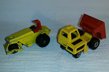 2x alte Spielzeugautos/Vintage toy cars MATCHBOX: Rod Roller & Site Dumper