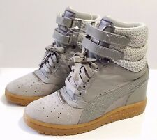 RARE COLOR! Puma Sky Wedge PP Fashion Sneaker Winter White & Plum Size 7
