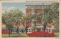 (W)  Mobile, AL - Bienville Square Gardens and Cawthon Hotel Exterior - 1945
