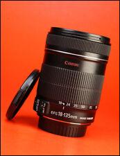 Canon EF-S 18-135mm f3.5-5.6 es Is Zoom Lente + Tapas Lente Frontal/Trasero