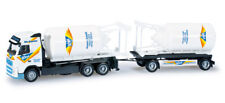 "Herpa 159548 Volvo Fh Container Roadtrain "" Schmitt Silo-Express "" Ho New"