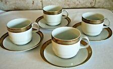 Bareuther Waldsassen 1970-93 Gold Platinum White Porcelain Coffee Tea Cup Saucer