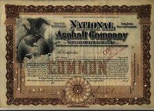 National Asphalt Company Stock Certificate New Jersey