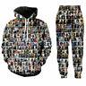 Fashion Bob Marley 3D Print Women/Men  Sport jogger pant Hoodies sweatshirt Set