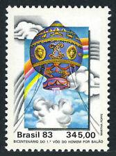 Brazil 1897, MNH. Manned Flight Bicent. Montgolfiere Balloon, 1983