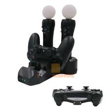 USB 4 Slot Chargeur Station Dock Stand pour Playstation PS4/PS3/PS3 Move/PS VR Contrôleur
