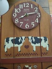 Elgin County vintage Cow Clock.  Battery powered (1987)