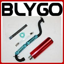 Exhaust Pipe+ RED Alloy Muffler 150cc 200cc 250cc Quad Dirt Bike ATV Dune Buggy