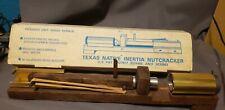 Vintage Texas Native Inertia Nutcracker Model 7141 Pecan Nut Cracker Orig Box