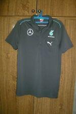 Mercedes Petronas Puma F1 Shirt Polo Formula 1 Jersey Dark Gray Men Size M 48/50