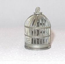 Vintage Miniature Doll House Pewter Bird Cage