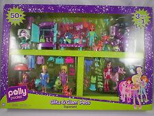 "Polly Pocket GLITZ & GLAM PETS SUPERSET 3 IN 1 Mattel 4"" inch NEW! RARE! 2008"