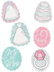 PACK OF 24 BRIDAL SHOWER DECORATIONS WEDDING HEN DO PARTY DECORATIONS