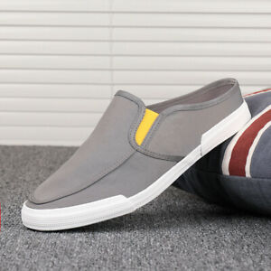 Men Breathable New Canvas Shoes Loafers Moccasin Flat Shoes Suitable for Driving