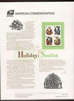 #3537-40 34c Holiday Santas USPS #639 Commemorative Stamp Panel